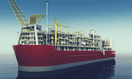 Royal Dutch Shell's floating LNG plant
